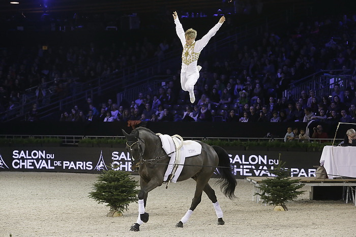 Fei world cup vaulting 2013 2014 france germany and great britain win at salon du cheval de - Salon du cheval 2014 paris ...