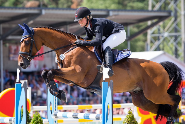 Julia Krajewski (GER) scores the biggest win of her career, at Luhmühlen on Samourai du Thot (FEI/Eric Knoll)