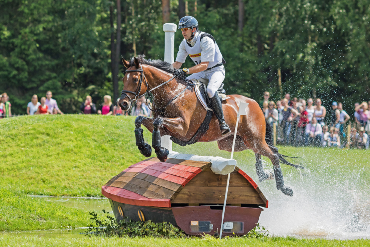 Into the lead: Andreas Dibowski and It's Me XX take the lead after Cross country at Luhmühlen (GER), penultimate leg of the FEI Classics™ 2015/2016 (Eventing Photo/FEI)