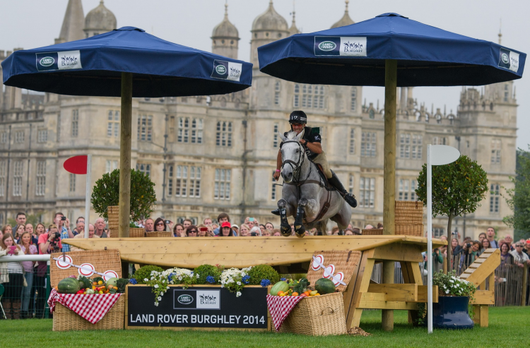 Andrew Nicholson (NZ) who will be aiming for a sixth win at this weekend's Land Rover Burghley Horse Trials, final leg of the FEI Classics™ 2015/2016, pictured here on his 2014 winning Burghley ride, Avebury (Trevor Holt/FEI)