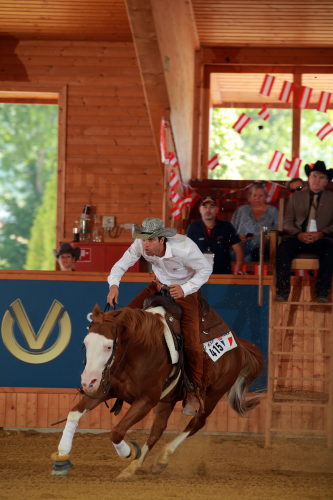 Bastien Bourgeois (FRA) and Gunspinner, join top scorer in the Consolation. (FEI/Andrea Bonaga)