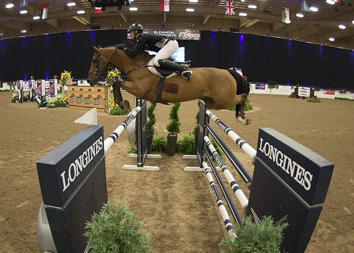 Germany's Christian Heineking and Aje Cluny had luck on their side in Las Vegas to win by 1/100th of a second in the fifth leg of the Longines FEI World Cup™ Jumping 2016/2017 North American League Western Sub-League. (FEI/Julia Borysewicz)