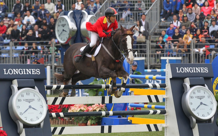 China's Daniel Zhao won the Longines FEI World Cup™ Jumping 2014/2015 China League.
