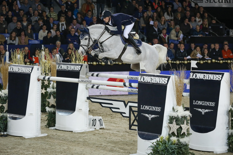 Photo caption: Germany's Daniel Deusser jumps to the top of the Longines rankings (FEI/Dirk Caremans)
