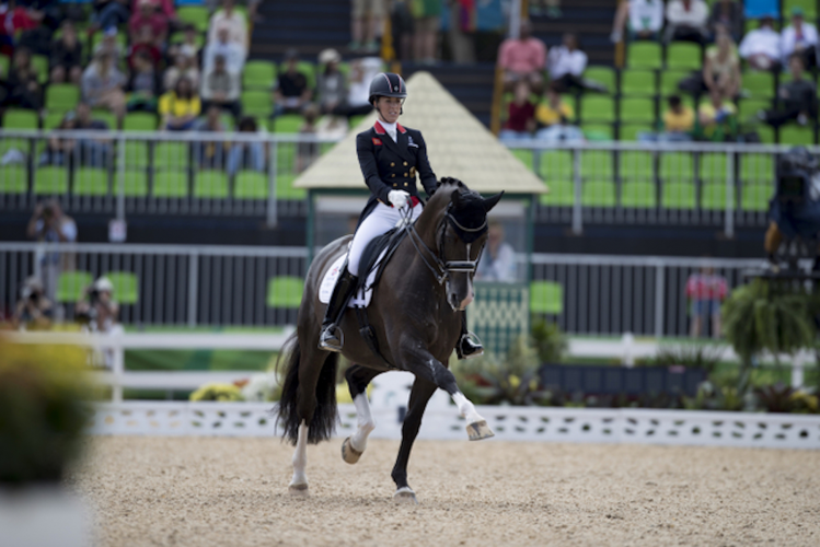 The superstars of the sport of Dressage, Great Britain's Charlotte Dujardin and Valegro, produced another sensational performance in today's Grand Prix at Deodoro Olympic Park in Rio de Janeiro (BRA). However the British team are trailing Germany in the battle for team gold which will be decided by tomorrow's Grand Prix Special competition. (Dirk Caremans/FEI)