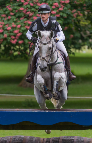 Josephine Schnauffer and Sambuuca 10, placed sixth individually, helping to secure Germany's win at Houghton Hall (Trevor Holt/FEI)