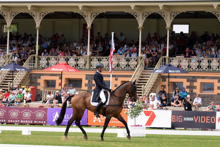 Seumas Marwood with his Contango II mare Wild Oats, third after Dressage at FEI Classics™ in Adelaide (Julie Wilson/FEI)